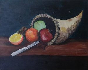 Cornucopia with fruits