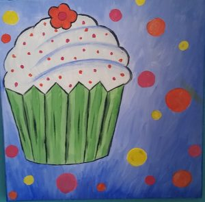 Cupcake with dots