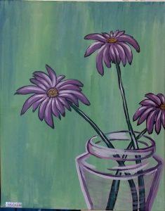 Flower in a jar