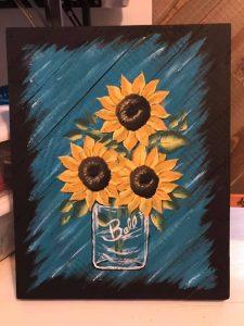 Mason Jar Sunflower