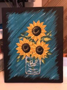Mason Jar Sunflower