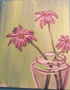 Purple flower in a vase